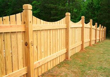 самодельный деревянный забор