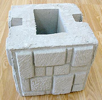 наборный бетонный столб
