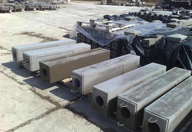 столбы на основе бетона