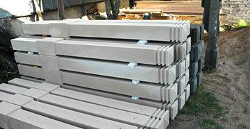 красивые бетонные столбы
