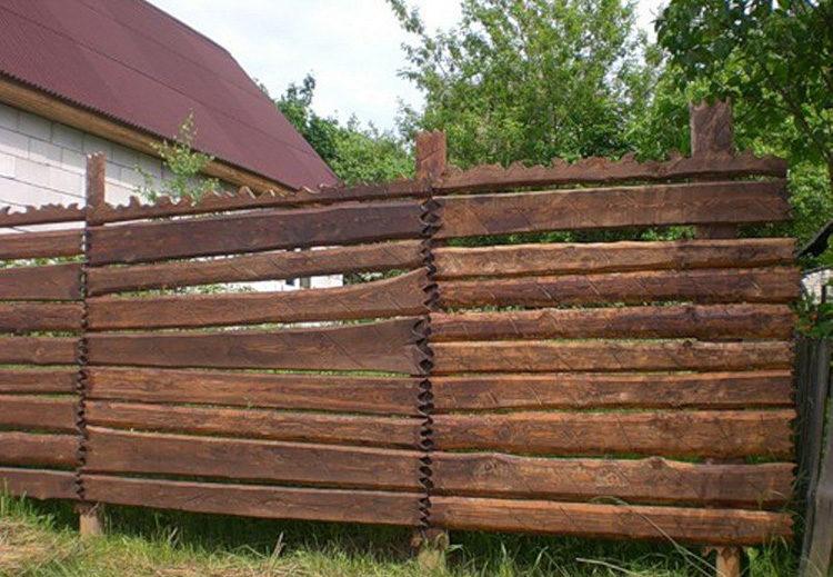 ворота из горбыля