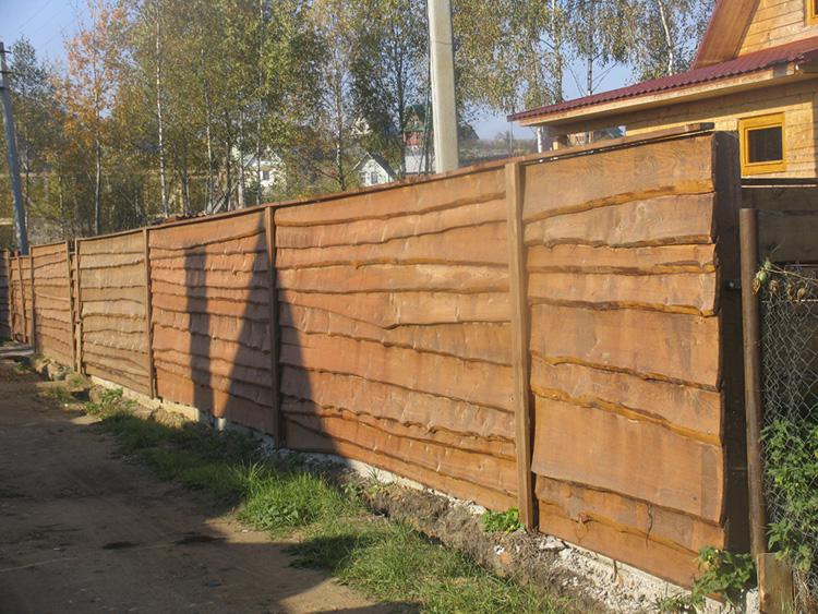 дощатый забор