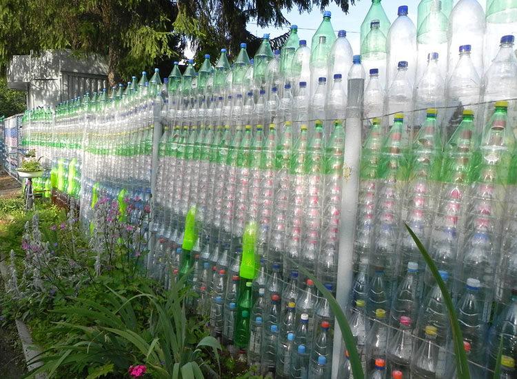 пластиковые бутылки для ограждения