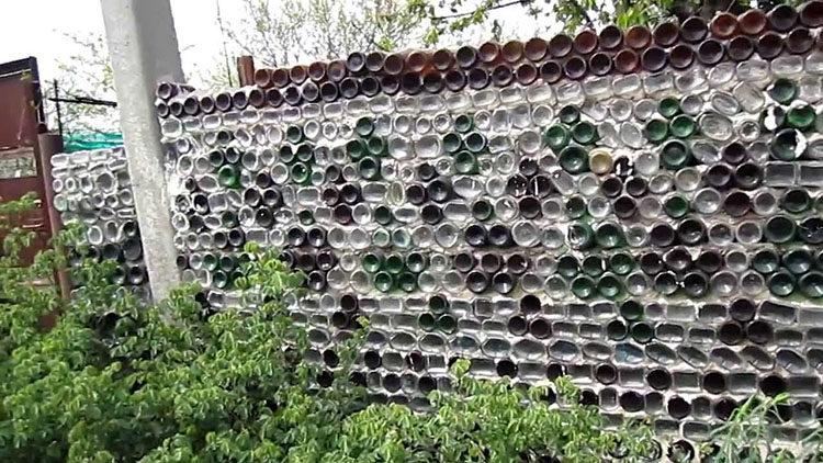 забор из отходов