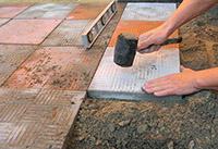 плитка на почву