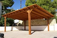 деревянная крыша для навеса