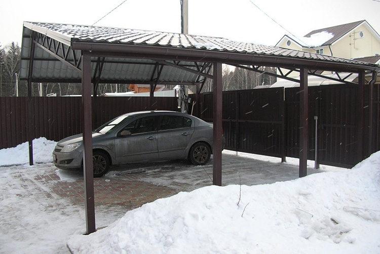 навес под гараж